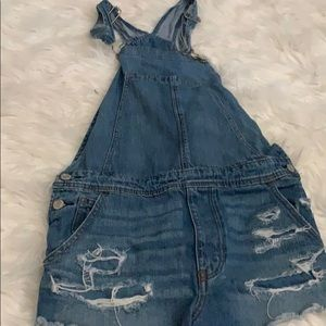 American Eagle Outfitters Ripped Overalls
